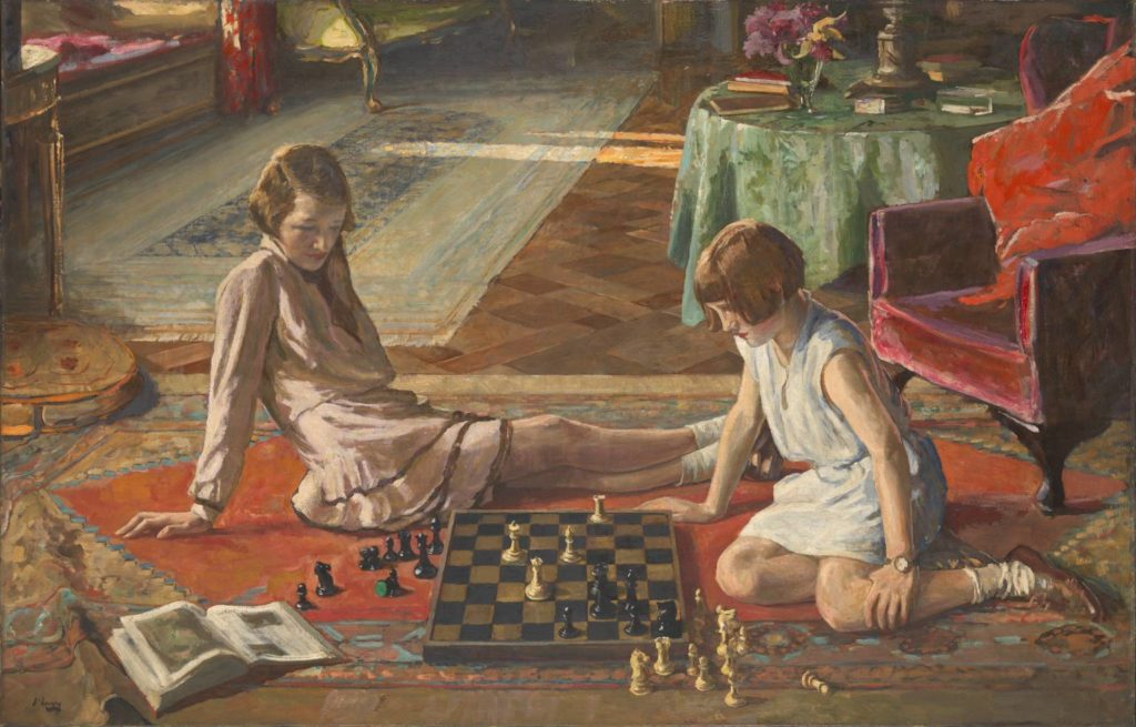 Sir John Lavery || The Chess Players 1929  || Presented by the Trustees of the Chantrey Bequest 1930 || tate.org.uk
