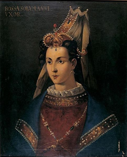 Suleiman's Liblingsfrau, Roxelana (1500-1558) - Es existieren keine bekannten, realistischen Porträts von ihr. Dieses Gemälde wurde von den Venezianern nach Informationen ihres Geheimdienstes in Istanbul angefertigt. Ca. 18. Jh. || Standort: Topkapi Palast